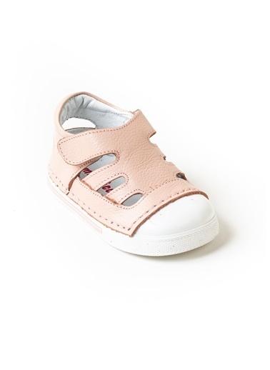 minipicco Minipicco Unısex Pudra Deri Ortopedik Destekli İlk Adım Ayakkabı Pudra